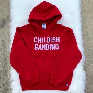 ✅ Childish Gambino Red Pullover Sweater Youth XL